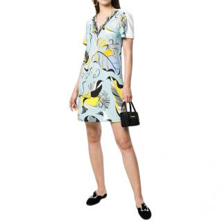 Pucci blue Frida printed silk mini dress