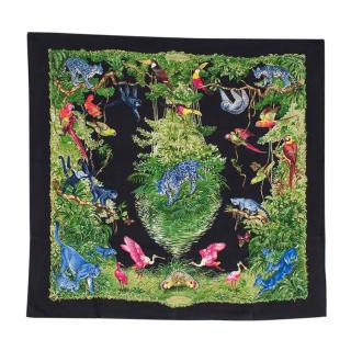 Hermes Equateur Silk Wash Scarf 90