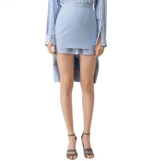 Burberry Wool Canvas Step-through Pencil Skirt