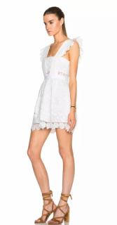 Self Portrait Guipure Lace Cream Mini Dress