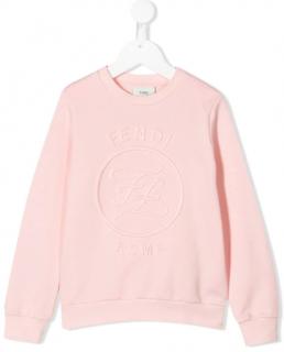 Fendi Pink Kid's 4Y Logo Sweatshirt