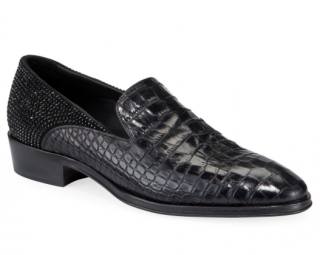 Giuseppe Zanotti Men's Seattle Embossed Leather Loafers