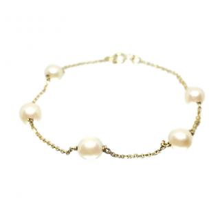 Bespoke Seawater Pearl 18ct Yellow Gold Bracelet