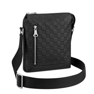 Louis Vuitton Black Damier Infini Leather Discovery Messenger BB Bag