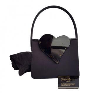 Yves Saint Laurent Vintage Heart Embellished Top Handle Bag