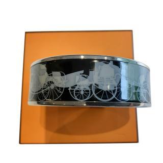Hermes Enamel Bracelet With Palladium Hardware