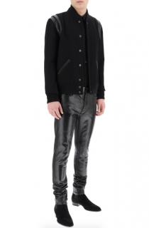 Saint laurent Black Wool Teddy Jacket