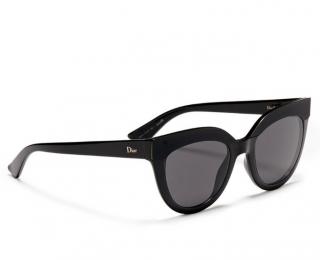 Dior �Soft 1� Matte Black Brow Bar Acetate Cat Eye Sunglasses