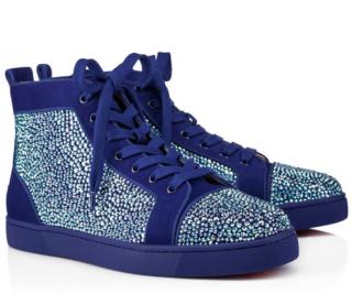 Christian Louboutin Louis Strass Men's Flat Atlantic Sneakers