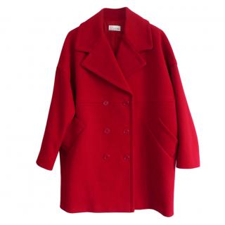 REDValentino Red Cotton Blend Coat