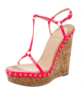 Christian Louboutin Fluo Studded Jamie Lee Wedges
