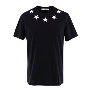 Givenchy Black Cotton Star Patches T-shirt
