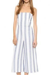 Club Monaco striped cotton strapless jumpsuit