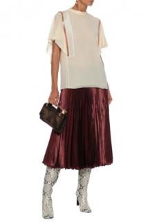 CHLO� Crystal-embellished silk-crepe blouse