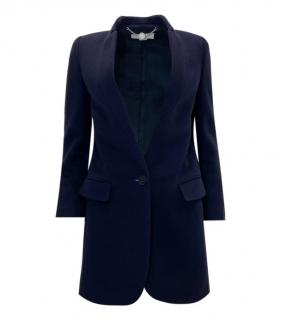 Stella McCartney Blue Wool Tailored Longline Jacket