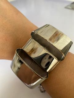 Balenciaga Gold Tone Asymmetric Bow Double Finger Ring