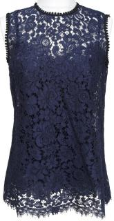 Dolce & Gabbana navy Guipure lace top