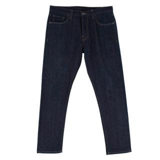 Prada Blue Soft Cotton Straight Cut Denim Jeans