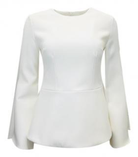 Safiyaa long sleeved flute sleeved white top
