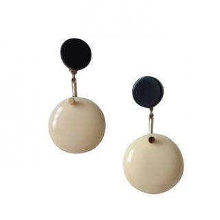 Marni oversized circle drop earrings