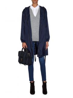 Weekend Max Mara Blue Nylon Rain Jacket