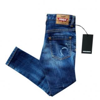 DSquared2 Kids 6Y Washed Denim Jeans