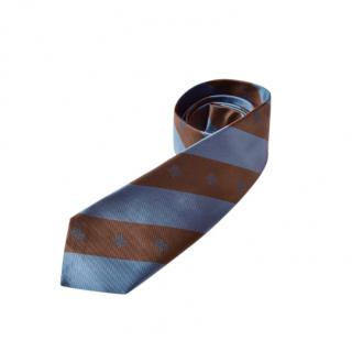 Bottega Veneta Striped Silk Classic Tie