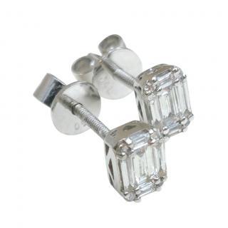 Bespoke 18ct White Gold Diamond Earrings