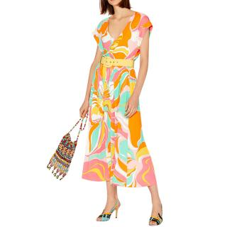 Emilio Pucci Rivera print pleated midi skirt