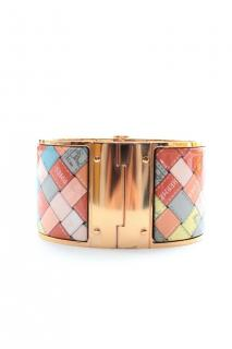 Hermes multicoloured enamel cuff  size PM