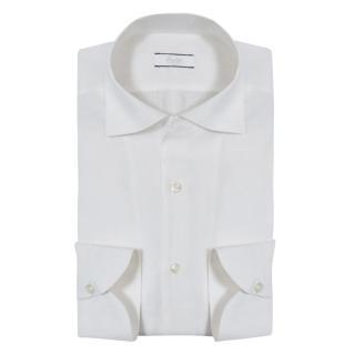 Fralbo classic white linen shirt