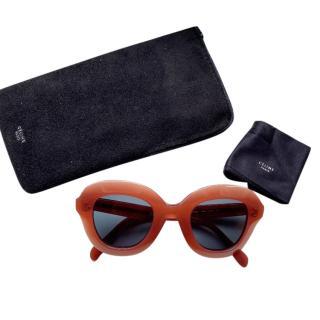 Celine oversized burnt orange iconic sunglasses