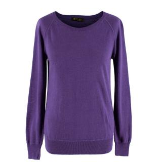 Loro Piana Linen & Silk Fine Knit Purple Jumper