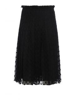 Philosophy di Lorenzo Serafini black lace midi skirt
