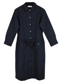 Mackintosh navy cotton shirt dress