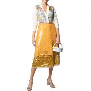 Tory Burch sequin-embellished high-waist skirt