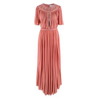 Zuhair Murad Pink Chiffon Embellished Gown
