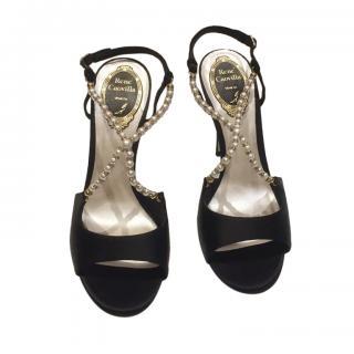 Rene Caovilla faux pearl detail evening sandals