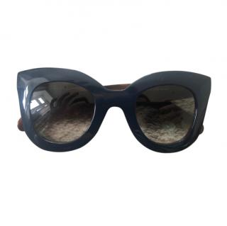 Celine navy acetate Marta sunglasses
