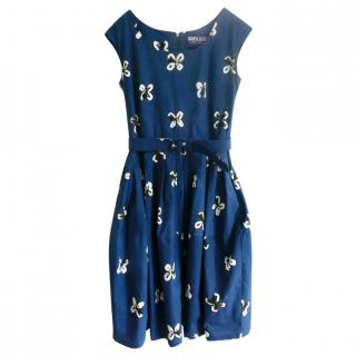 Samantha Sung teal stretch cotton April Dress