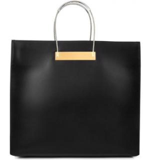 Balenciaga Black Cable Large Leather Shopper Bag
