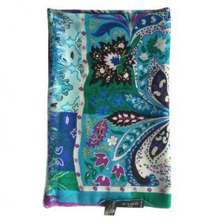 Etro cashmere/silk blend printed scarf