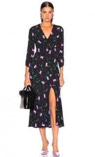 Rixo Floral Print Katie Midi Dress