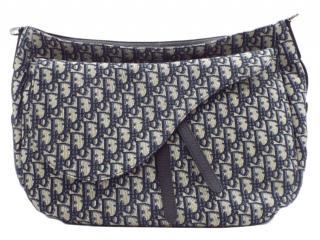 DIOR Blue Monogram Oblique Saddle Soft Bag
