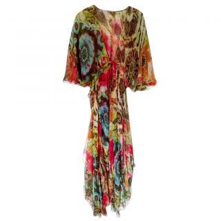 Etro Multicoloured Paisley Print Silk Chiffon Dress