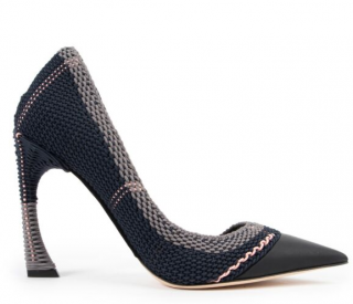 Dior Woven Songe Pointed Toe D'orsay Pumps