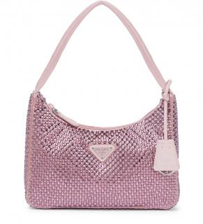 Prada Pink Crystal Embellished Re-Edition Bag
