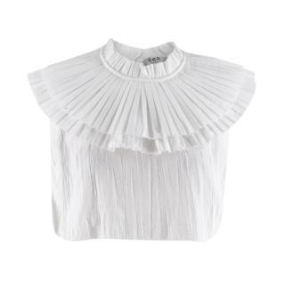 Sea New York White Cotton Pleated Collar