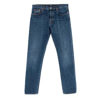 Valentino Chinos Fit Blue Men's Jeans