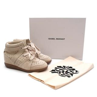 Isabel Marant Beige Bobby High Top Sneakers